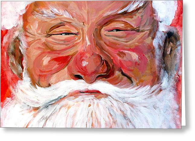 Eve Greeting Cards - Santa Claus Greeting Card by Tom Roderick