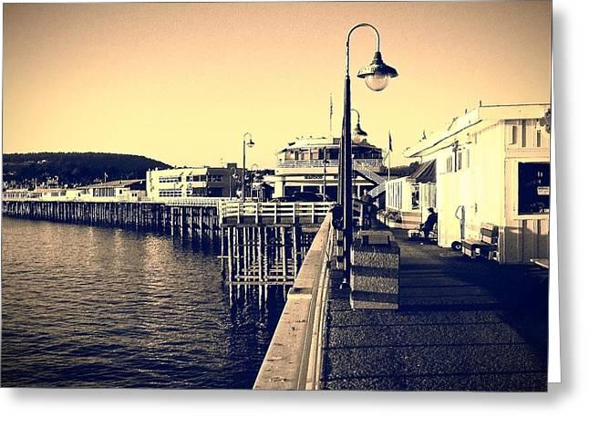 Santa Cruz Pier Greeting Cards - Santa Cruz Beach Boardwalk Greeting Card by David Coleman
