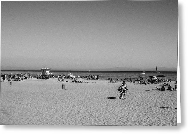 Santa Cruz Beach Greeting Card by Mary Chris Hines