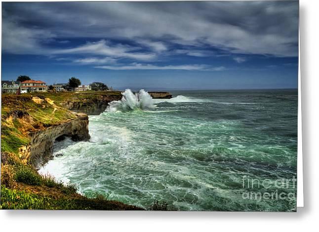 Santa Cruz Greeting Cards - Santa Cruz Coast Greeting Card by Paul Gillham