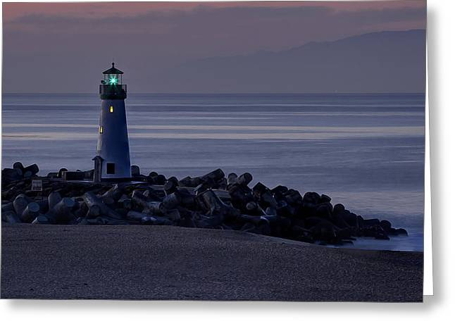 Santa Cruz Greeting Cards - Walton Lighthouse Early Morning Greeting Card by Morgan Wright