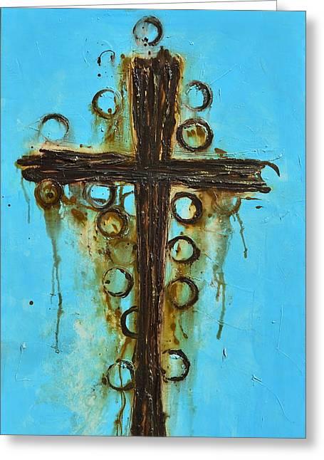 Serenity Prayer Mixed Media Greeting Cards - Santa Cruz Greeting Card by Ivan  Guaderrama