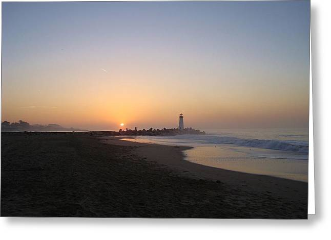 Santa Cruz Pier Greeting Cards - Santa Cruz sunrise Greeting Card by Misti Algeo
