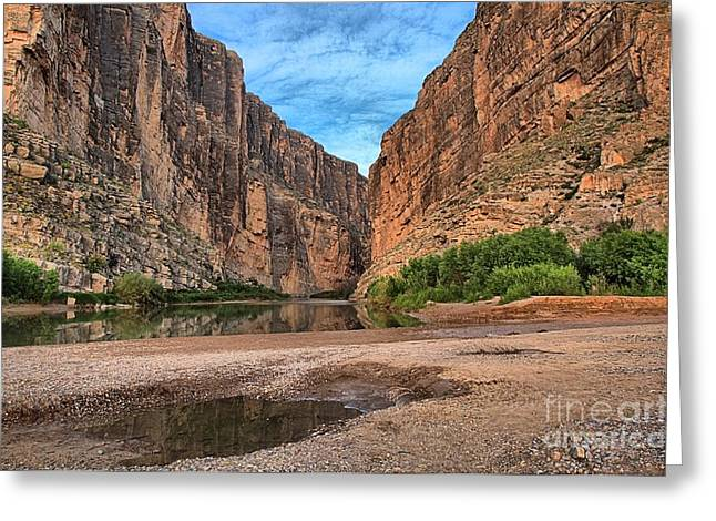 Texas Parks Greeting Cards - Santa Elena Canyon Sunrise Greeting Card by Adam Jewell