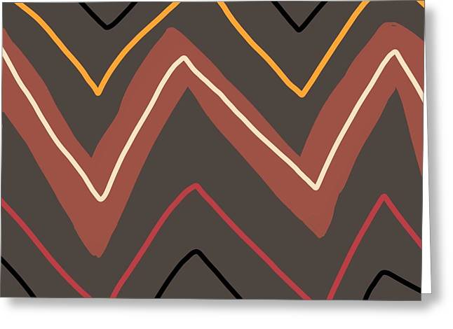 Earth Tone Tapestries - Textiles Greeting Cards - Santa Fe Design Greeting Card by Gregory Egan