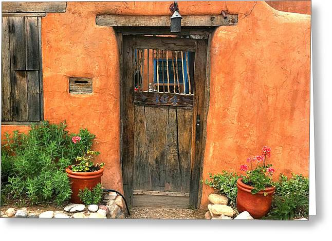 Iphoneography Greeting Cards - Santa Fe Door Greeting Card by Matt Suess