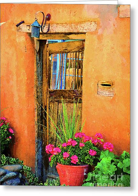 Seller Mixed Media Greeting Cards - Santa Fe Greeting Card by Jerry L Barrett
