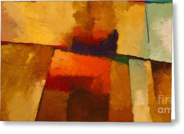 Abstract Expressions Greeting Cards - Santa Fe Greeting Card by Lutz Baar