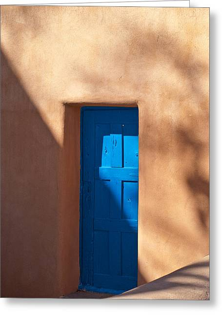 Santa Fe Desert Greeting Cards - Santa Fe Portal Greeting Card by Steve Gadomski