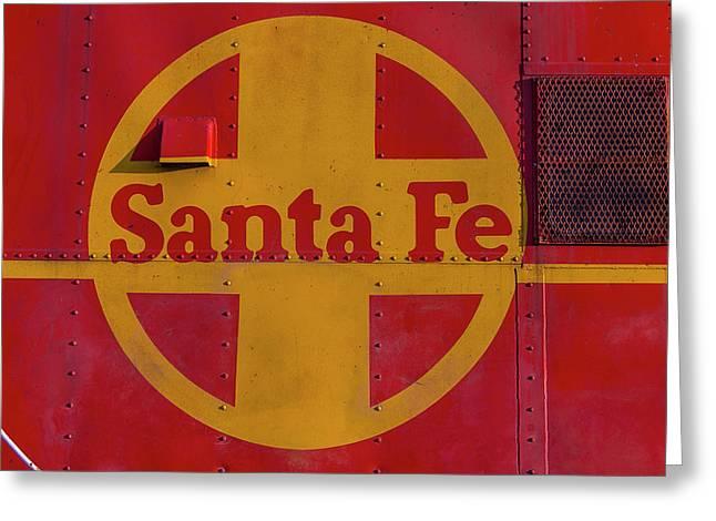 Santa Fe Railroad Greeting Card by Garry Gay