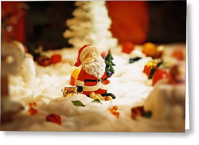 Santa in town Greeting Card by Sun Wu