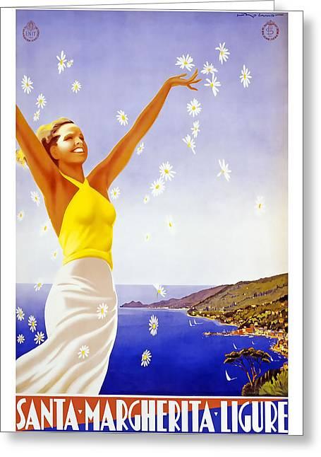 Margherita Greeting Cards - Santa Margherita Ligure Greeting Card by David Wagner