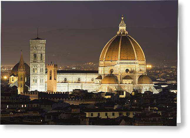 Domes Greeting Cards - Santa Maria del Fiore Florence Greeting Card by Robert Gladwin