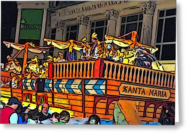 Tall Ships Greeting Cards - Santa Maria Greeting Card by Marian Bell