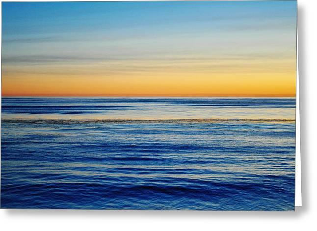 Coast Highway One Greeting Cards - Santa Monica Mountains Highway One Ocean Sunset II Greeting Card by Kyle Hanson
