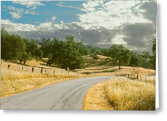 Cambria Greeting Cards - Santa Rosa Creek Road Passing Greeting Card by Panoramic Images