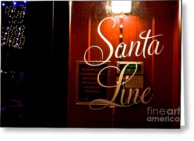 Sardinelly Greeting Cards - Santa Telephone Line direct Greeting Card by Yurix Sardinelly
