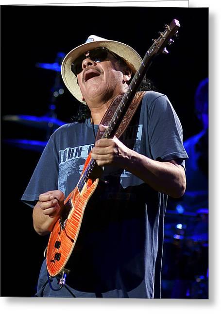 Live Music Greeting Cards - Santana Wailing Greeting Card by Steven Sachs