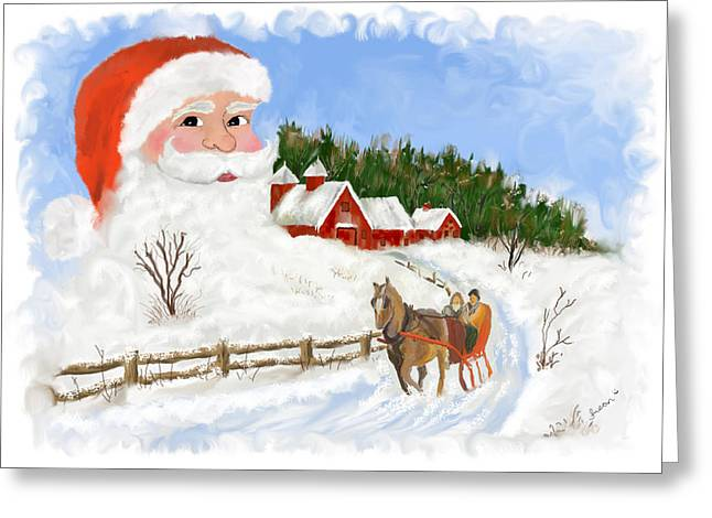 Santas Beard Greeting Card by Susan Kinney