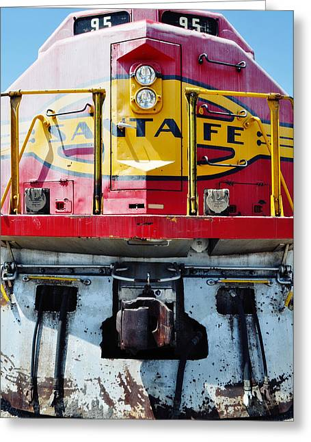 Recently Sold -  - Main Street Greeting Cards - Sante Fe Railway Greeting Card by Kyle Hanson