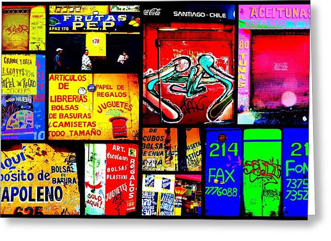 Santiago Funky Walls  Greeting Card by Funkpix Photo Hunter