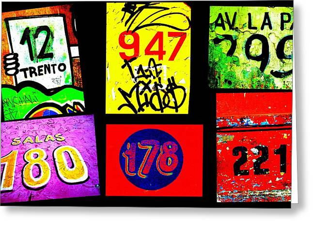Santiago Street Numbers Greeting Card by Funkpix Photo Hunter