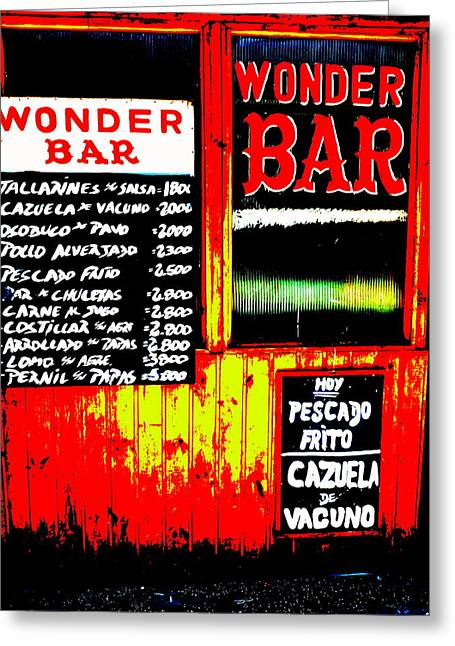 Santiago's Wonder Bar  Greeting Card by Funkpix Photo Hunter