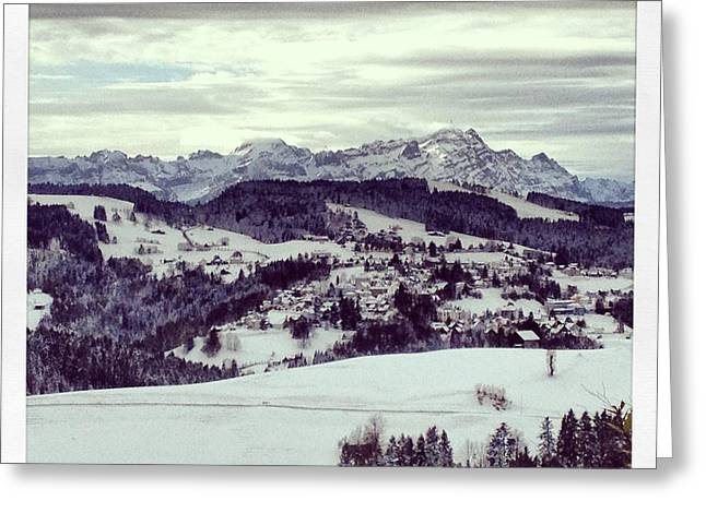 Swiss Photographs Greeting Cards - Santis in the Winter Greeting Card by Manda Koepp-Piesche