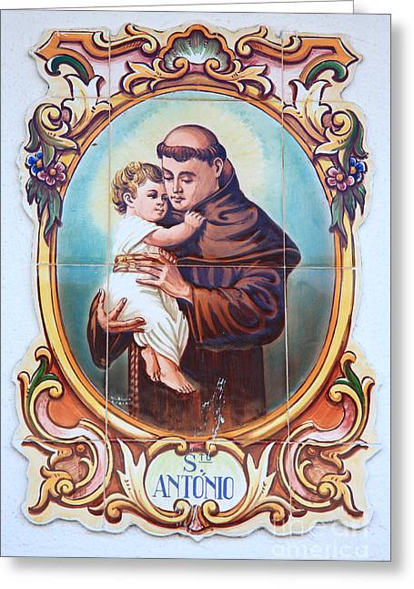 Religious Art Photographs Greeting Cards - Santo Antonio de Lisboa Greeting Card by Gaspar Avila