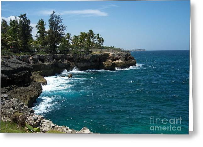 Domingo Greeting Cards - Santo Domingo Coastal View. Greeting Card by Heather Kirk