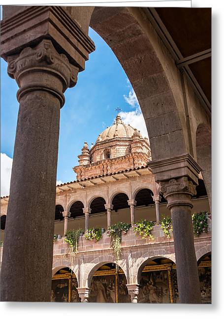 Santo Domingo Convent In Cuzco Greeting Card by Jess Kraft
