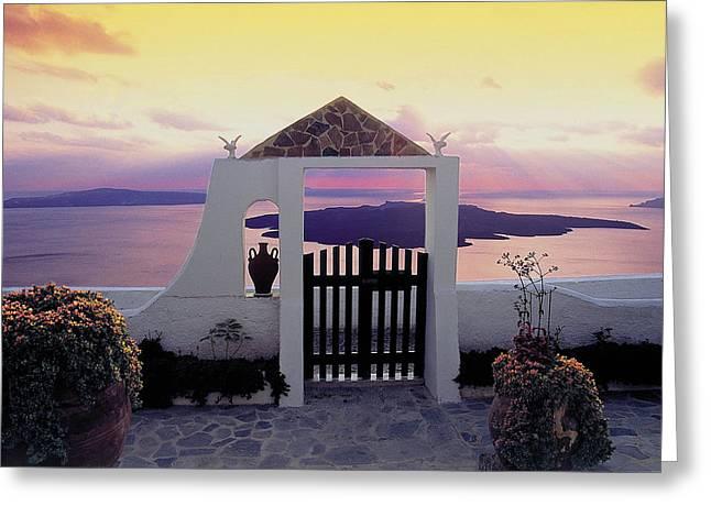 Thirasia Greeting Cards - Santorini 010 Greeting Card by Manolis Tsantakis