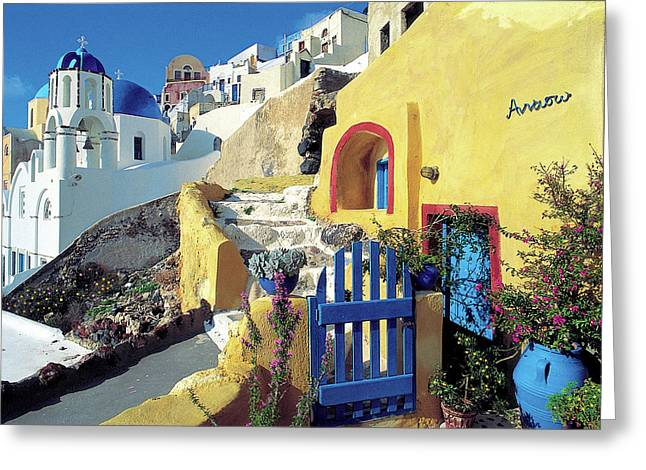 Thirasia Greeting Cards - Santorini 021 Greeting Card by Manolis Tsantakis
