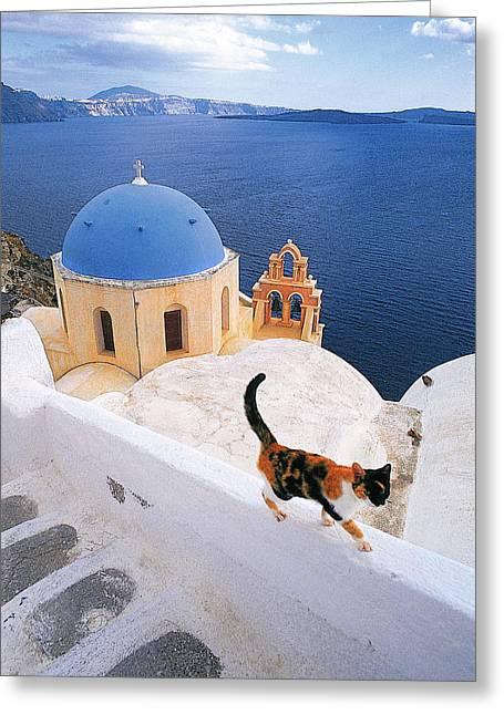Thirasia Greeting Cards - Santorini 04 Greeting Card by Manolis Tsantakis