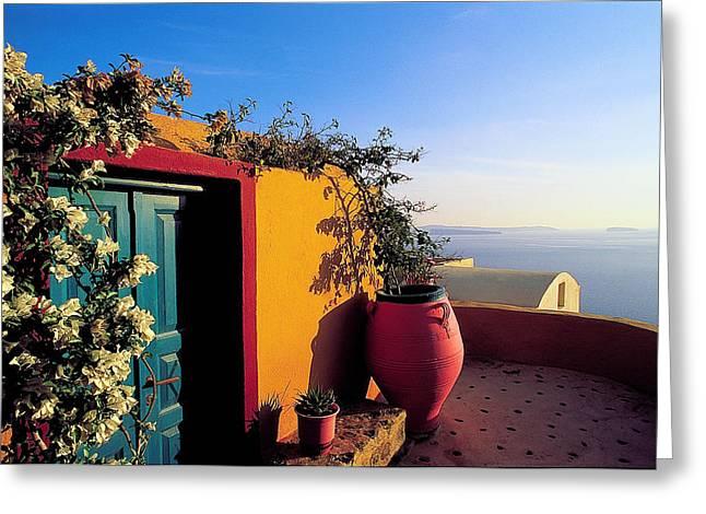 Thirasia Greeting Cards - Santorini 09 Greeting Card by Manolis Tsantakis