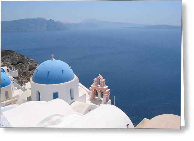 Santorini Greeting Cards - Santorini Greeting Card by Mike Paget