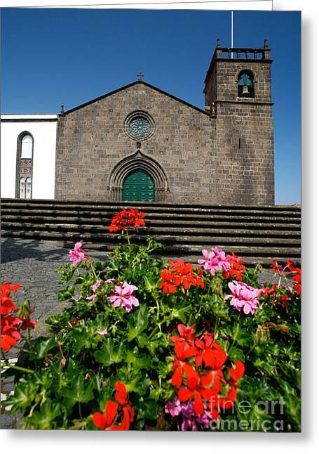 Azoren Greeting Cards - Sao Miguel Arcanjo church Greeting Card by Gaspar Avila