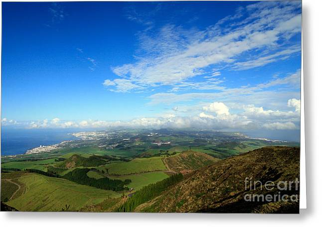Azores Greeting Cards - Sao Miguel island Greeting Card by Gaspar Avila