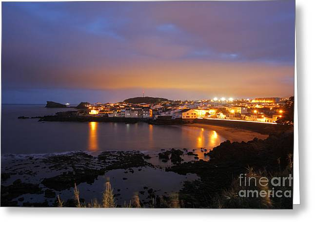 Village By The Sea Greeting Cards - Sao Roque - Azores Greeting Card by Gaspar Avila