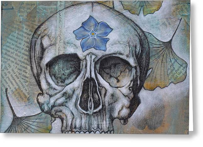 Anatomical Mixed Media Greeting Cards - Sapient Greeting Card by Sheri Howe