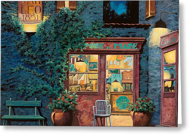 Night Cafe Greeting Cards - Sapore Di Mare Greeting Card by Guido Borelli