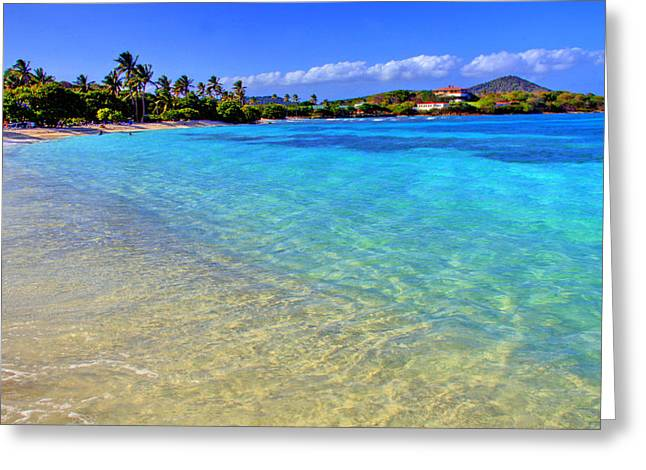 Tropical Beach Greeting Cards - Sapphire Glow Greeting Card by Scott Mahon