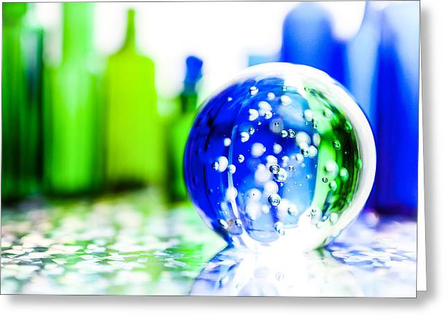 Fine Bottle Greeting Cards - Sapphires and Emeralds I Greeting Card by Jon Woodhams