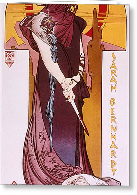 Posters Of Women Photographs Greeting Cards - Sarah Bernhardt Greeting Card by Granger