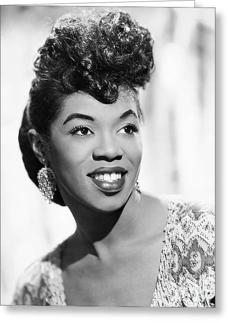 20th Greeting Cards - Sarah Vaughan (1924-1990) Greeting Card by Granger