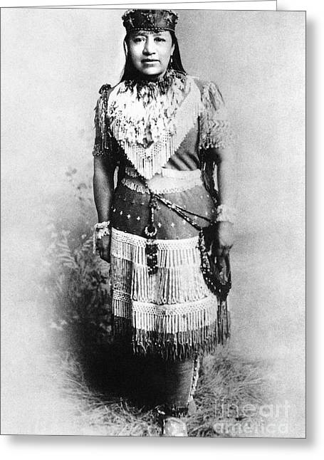 Schoolmistress Greeting Cards - Sarah Winnemucca Greeting Card by Granger