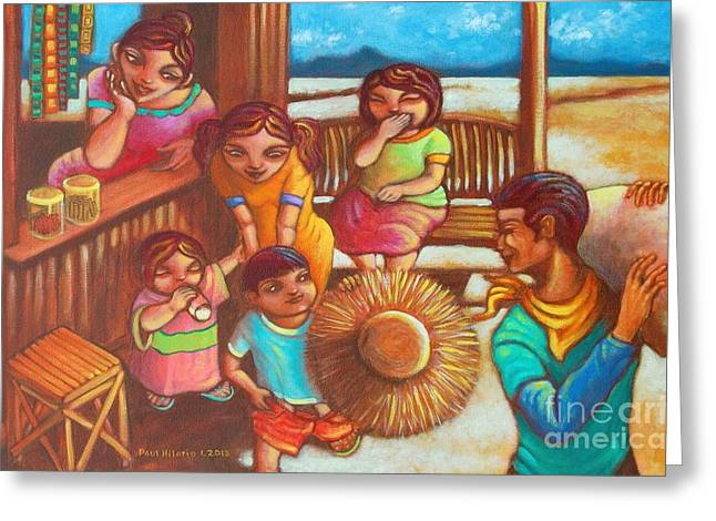 Paul Hilario Greeting Cards - Sari-saring Saya at Alaala Greeting Card by Paul Hilario