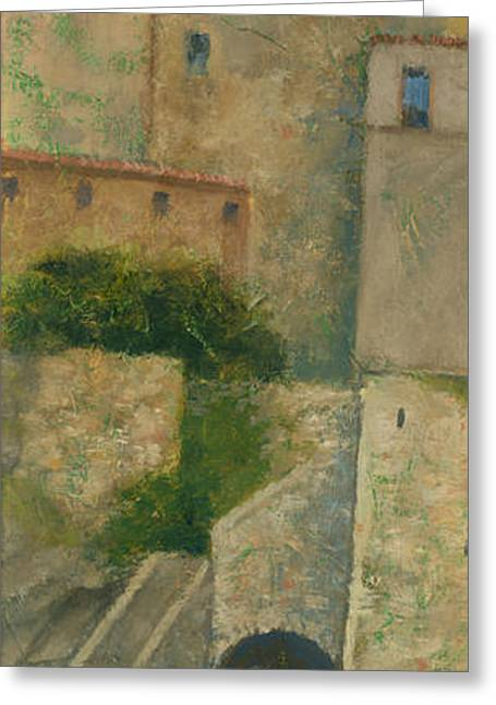 Townscapes Greeting Cards - Sartene Corsica Greeting Card by Steve Mitchell