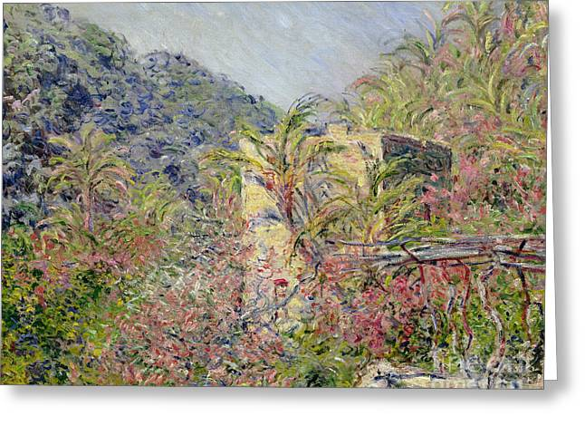 Rift Greeting Cards - Sasso Valley Greeting Card by Claude Monet