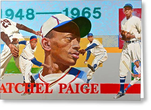 Satchel Paige Greeting Card by Cliff Spohn